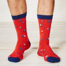Bambus Socken Bateau (rot)